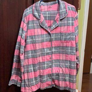 Other - 3X Super Soft Pink/Grey plaid Pajama pant set.